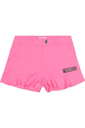 Moschino Girls Shorts - Logo stretch-cotton shorts