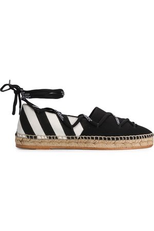 OFF-WHITE Diagonal stripe tie espadrilles