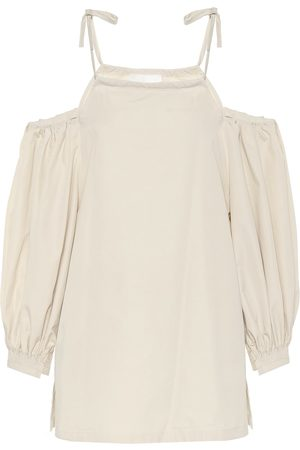 Jil Sander Cotton off-shoulder top