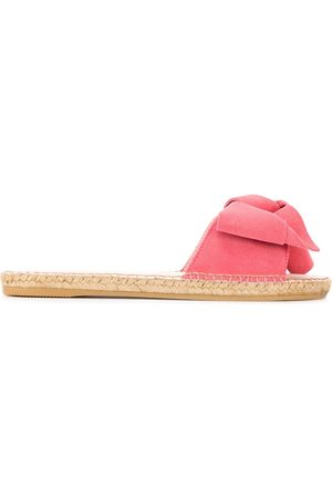MANEBI Knotted suede sliders