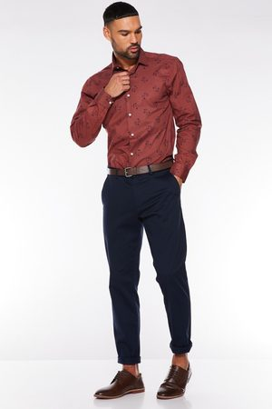 Quiz Navy Slim Fit Stretch Chinos
