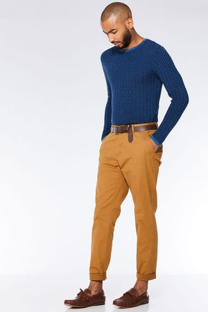 Quiz Camel Slim Fit Stretch Chinos