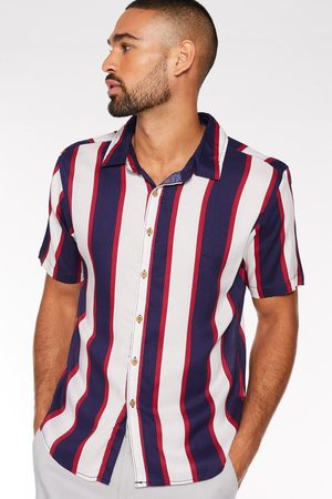 Quiz Short Sleeve Viscose Striped Shirt