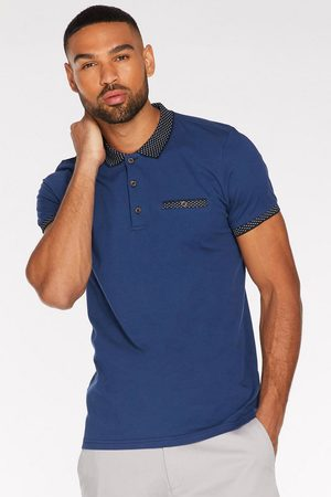Quiz Contrast Collar and Sleeve Polo in