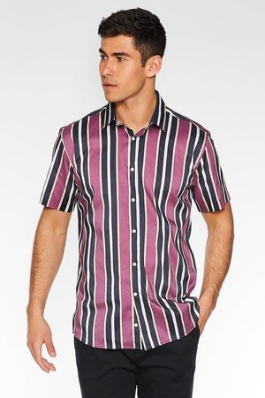 Quiz Short Sleeve Striped Shirt in