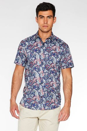 Quiz Multicoloured Short Sleeve Paisley Print Shirt