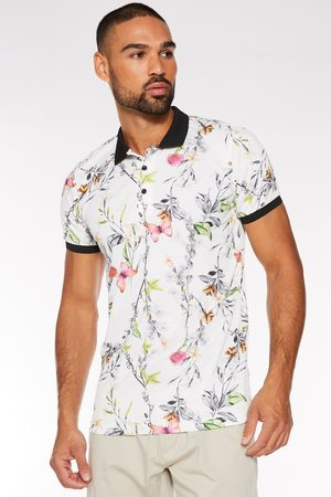 Quiz Butterfly Print Polo in