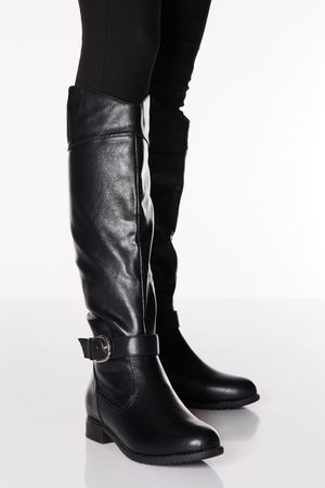 Quiz Faux Leather Western Knee Boot