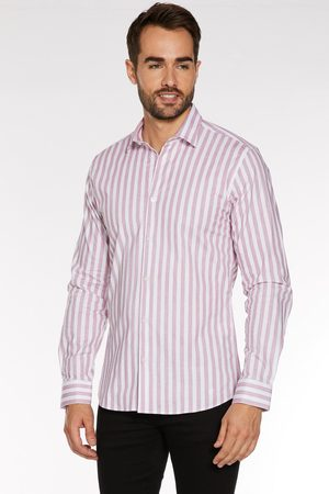 Quiz Long Sleeve Shirt with Faded Stripes