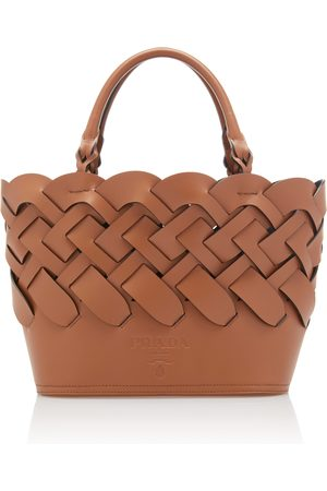 Prada Women Tote Bags - Woven Leather Tote