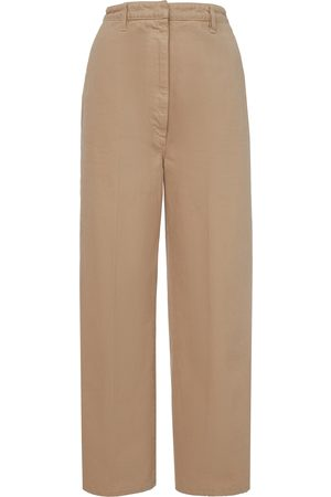 Prada Pleated Cotton Trousers