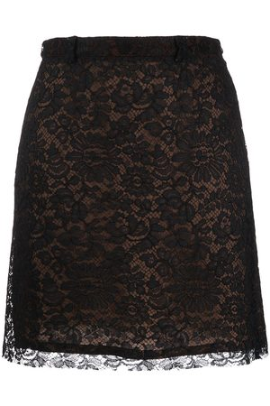 VERSACE 1990's floral lace patterned skirt