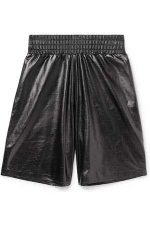 Bottega Veneta Men Bermudas - Wide-leg Leather Bermuda Shorts