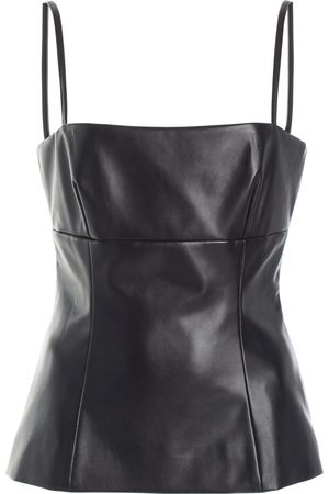 EMILIA WICKSTEAD Basset Sleeveless Faux Leather Top