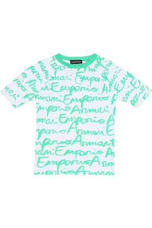 Emporio Armani Graffiti logo rash guard