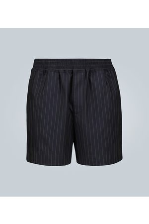 EDITIONS M.R Pinstriped cotton-blend shorts