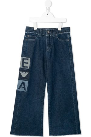 Emporio Armani Logo-patch wide jeans