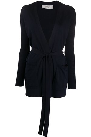PRINGLE OF SCOTLAND Waist-tied fitted cardigan