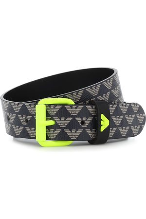 Emporio Armani Logo faux-leather belt