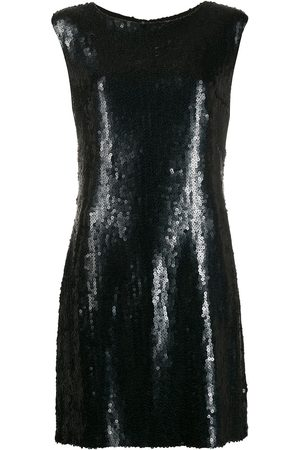 CHANEL Sequinned fitted dress