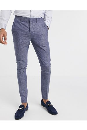 Selected Skinny fit stretch suit trousers in fleck