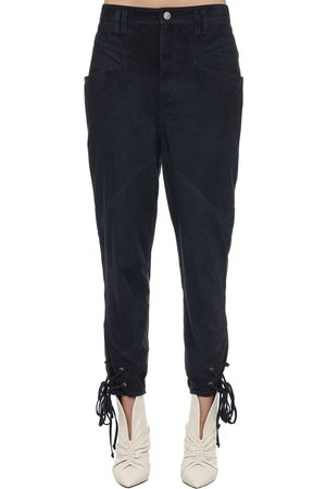 Isabel Marant Aedloisa Suede Pants W/ Lace-up Cuffs