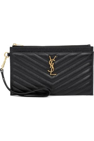 Saint Laurent Monogram Large leather pouch