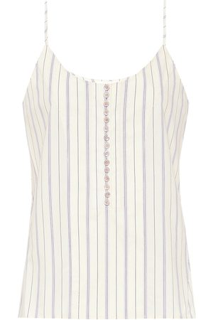 Chloé Striped cotton camisole