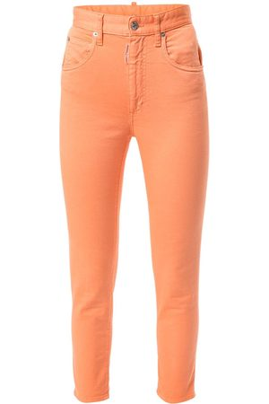 Dsquared2 High-waisted skinny cropped jeans