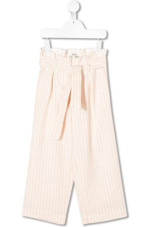 BONPOINT Belted striped pattern trousers