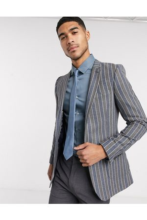 ASOS Super skinny blazer in and grey stripe
