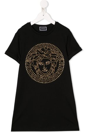 VERSACE Studded logo T-shirt dress