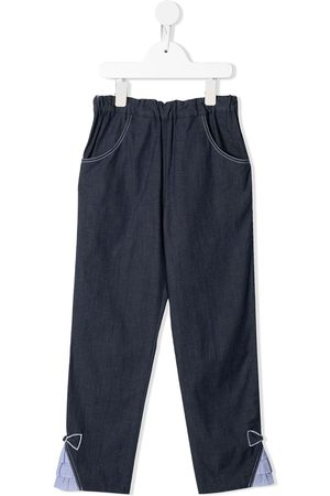 Familiar Denim tapered trousers