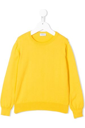 SIOLA Ribbed detail crew neck jumper