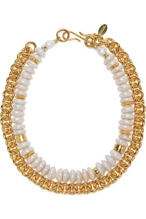 Lizzie Fortunato Kiki Pearl-Embellished -Plated Necklace
