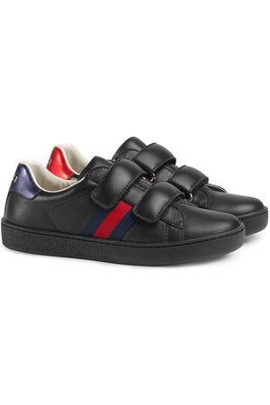 Gucci Children's leather sneaker with Web