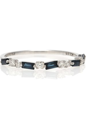 Suzanne Kalan 18kt white gold ring with sapphires and diamonds