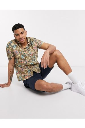 River Island Short sleeve shirt with geo floral print in