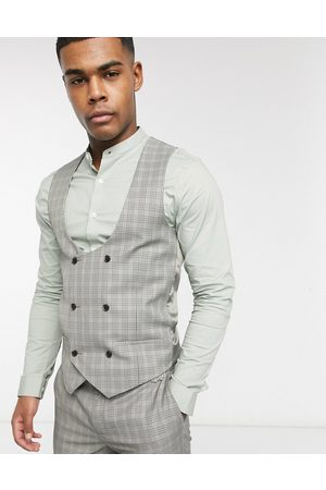 River Island Suit waistcoat in check