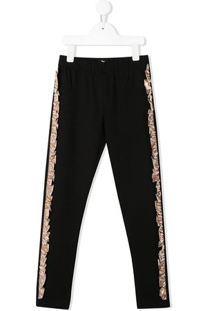 Le pandorine Ruffle detail pull-on trousers