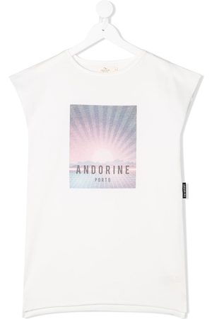 Le pandorine Printed logo tank top dress