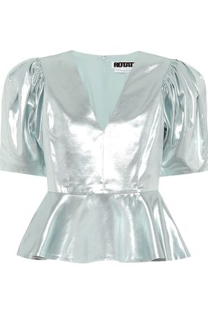 ROTATE Mindy metallic top