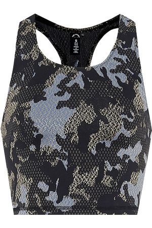 The Upside Twilight camo jacquard crop top