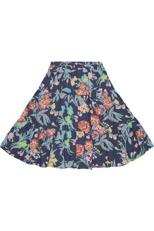 BONPOINT Girls Printed Skirts - Printed cotton skirt