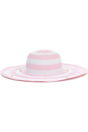 MONNALISA Embellished striped hat