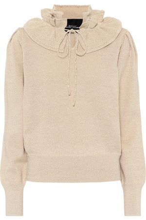 Marc Jacobs Lurex® ruffled-trimmed sweater