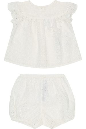 BONPOINT Baby Lilou cotton top and bloomers set