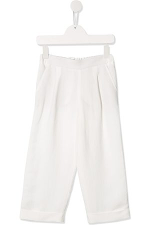 Brunello Cucinelli Turn-up cuff wide leg trousers