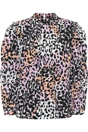 VERONICA BEARD Lety leopard-print stretch-silk top