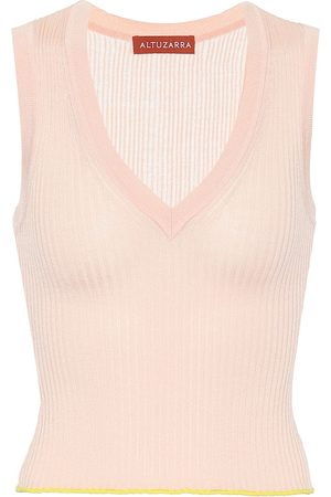 Altuzarra Parrish silk and cotton sweater vest